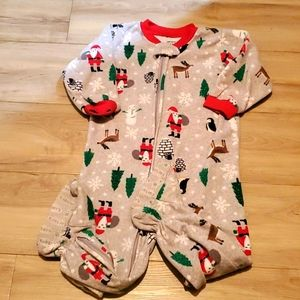 2/$12 Carter's footed Pajamas size 24 months